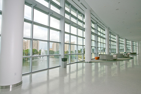 Interior of the Student Center at the University of Miami